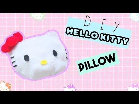 (3) DIY Room Decor • Hello Kitty Pillow (No Sew) • heartcindy - YouTube