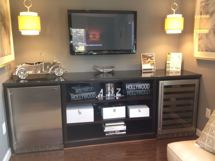 Coffee Bar With Mini Fridge Cabinets