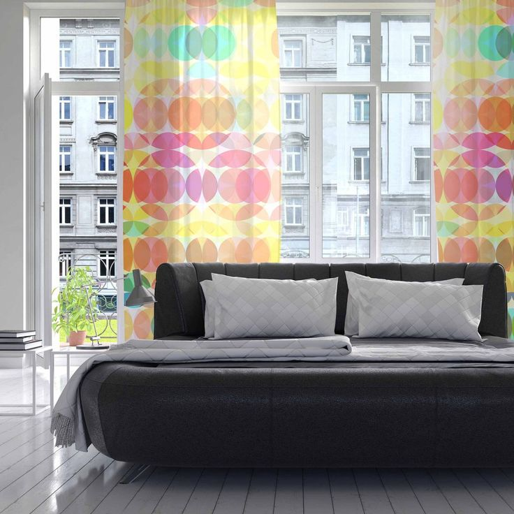"Fimbis ""SercuelarToo"" Geometric Circles Decorative Sheer Curtain - KESS InHouse  - - - - - - - -  - - - - - - - --    Let the light in with these sheer artistic curtains. Showcase your style with thousands of pieces of art to choose from. Spruce up your living room, bedroom, di"