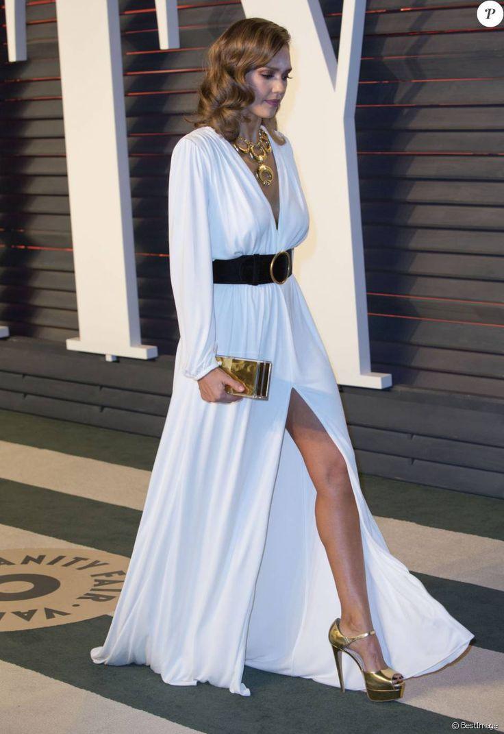 """Jessica Alba - People à la soirée """"Vanity Fair Oscar Party"""" à Hollywood le 28 février 2016.Hills"""