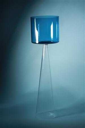 Glass vase or goblet. Designed by John Selbing for Orrefors, Sweden. 1961. H: 46,5 cm/ 18 1/2'' D: 13 cm/ 5''