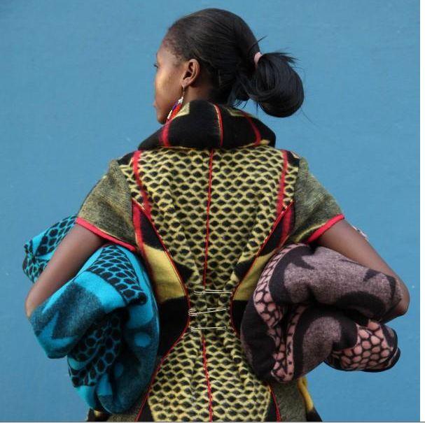 Basotho blankets ,90% Lammwolle 10% Baumwolle .Ein traditon von tief Afrika's  now  in München !KULTUR MEETS DESIGN !now at Home from Home Gallery , Munich .