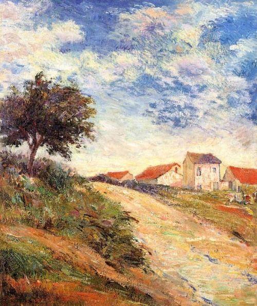 paulgauguin-art:  The road up, 1884 Paul Gauguin