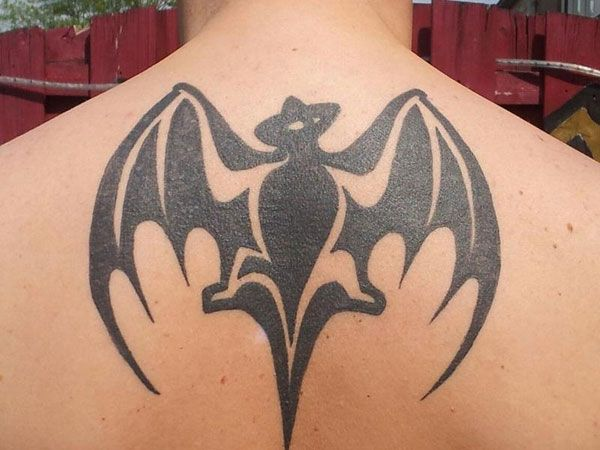 tribal design batman tattoo for guys or the bacardi bat what a bunch of crap pinterest. Black Bedroom Furniture Sets. Home Design Ideas