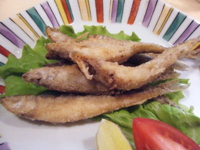 Fried pond smelt(わかさぎから揚げ)