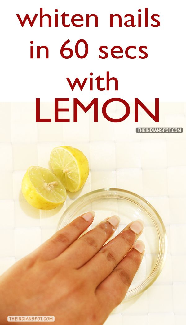 Use the baking soda to ceate a scrub with after soaking them into a mix of lemon juice.