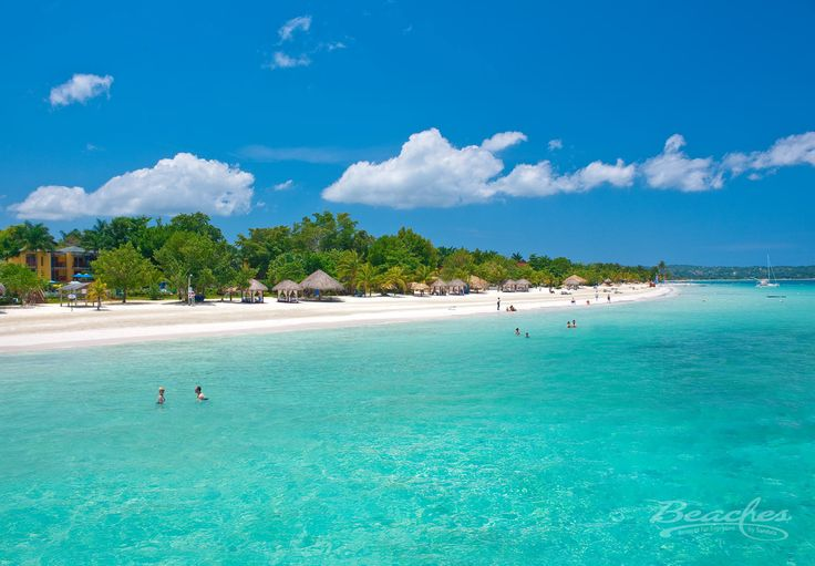 The beautiful beach at Beaches Negril; an all-inclusive family friendly resort located in Negril Jamaica.
