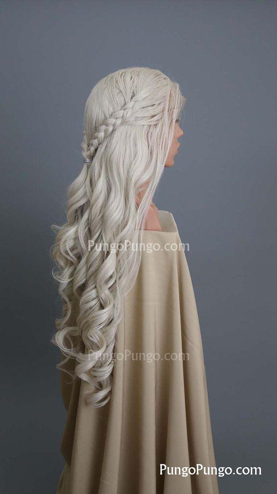 SALE Daenerys Wig Long Curly Blonde Wig Braids by PungoPungo