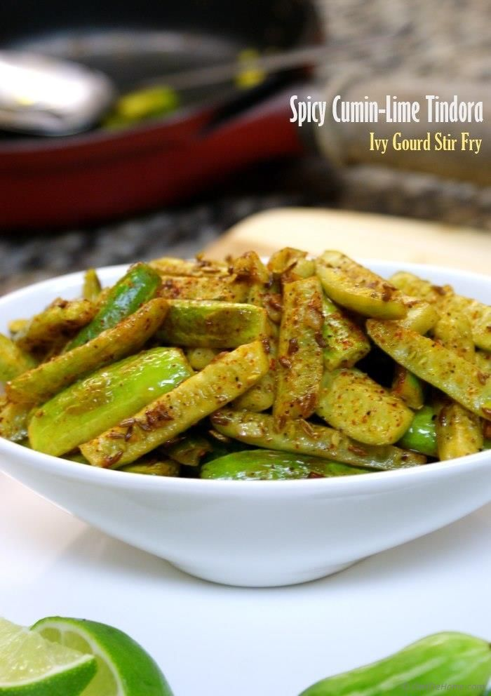 196 best indian green vegetable recipes images on pinterest spicy crispy cumin lime tindora tindora recipesindian snacksindian recipesentree forumfinder Images