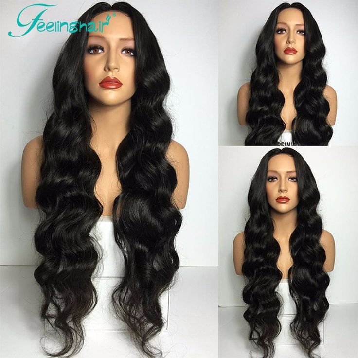 7A Lace Front Wigs Unprocessed Virgin Full Lace Wig Glueless Peruvian Virgin Human Hair Full Lace Wig Body Wave For Black Women
