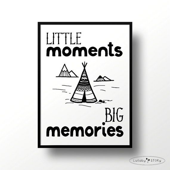 Kids poster Little momentsbig memories-Scandi by LullabySTORY