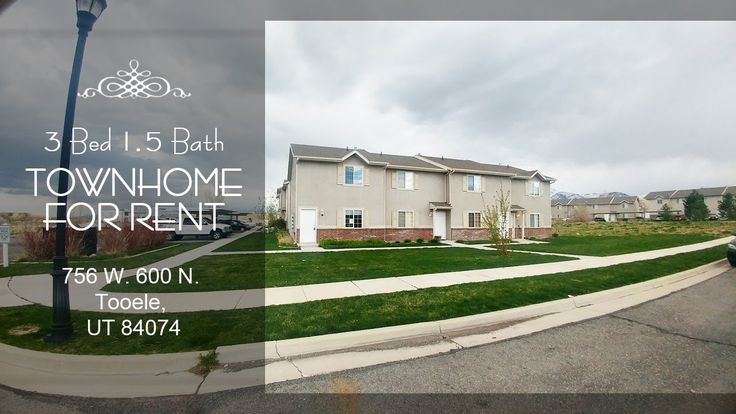 3 Bed 1.5 Bath Townhome For Rent: 756 W. 600 N. Tooele, UT 84074