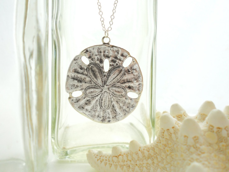 Sand Dollar Necklace Silver Sand Dollar Pendant Necklace Sand Dollar Jewelry Sand Dollar Wedding Sterling Silver Necklace.