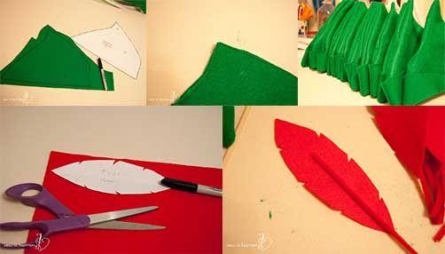 Cómo hacer un sombrero de fieltro de Peter Pan