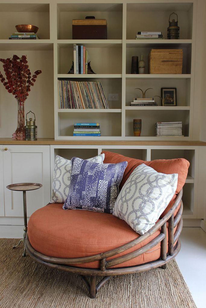 Perfect book reading chair...DISC Interiors spins a studio conversion.
