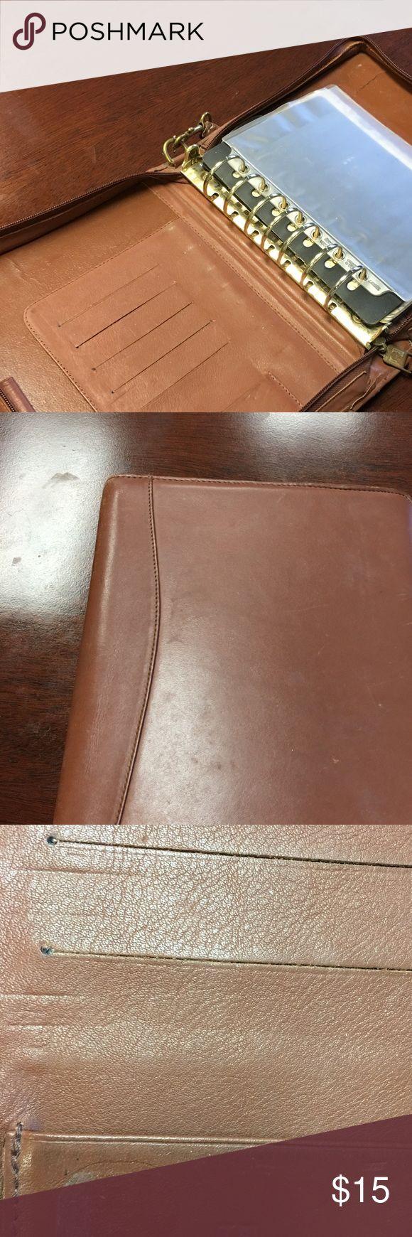 Jordon Leather open wire-bond Franklin Planner Leather Franklin Planner FranklinCovey Other