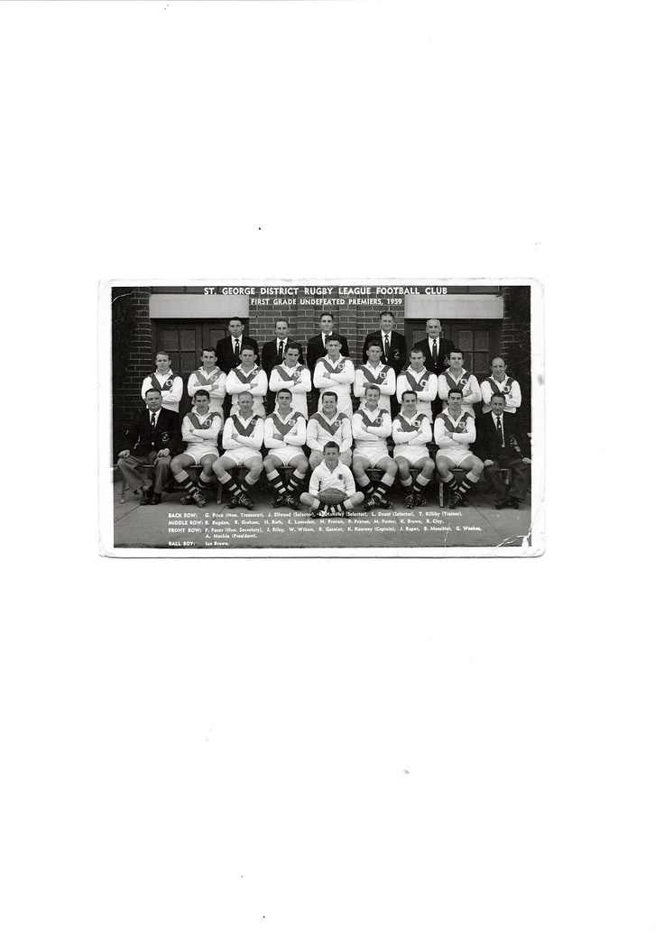 The Mighty St George Dragons 1959.