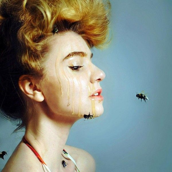 I can hear the bees buzzing.. Breathtaking Surreal Self Portraits by 20-Year-Old Rachel Baran #art #photography