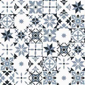 płytki cementowe Patchwork czarny, biały, szary