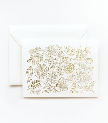 Gold Botanical Pattern Card
