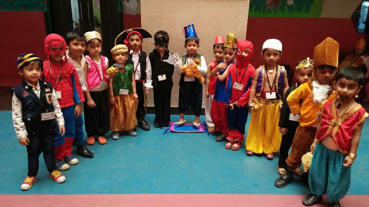 Ramaben Babubhai Kanakia Pre Primary School in Mira Road conducted a fancy dress competition for Nursery and Jr. Kg. Students. Children came dressed in their colourful costumes and spoke a few sentences about characters.
