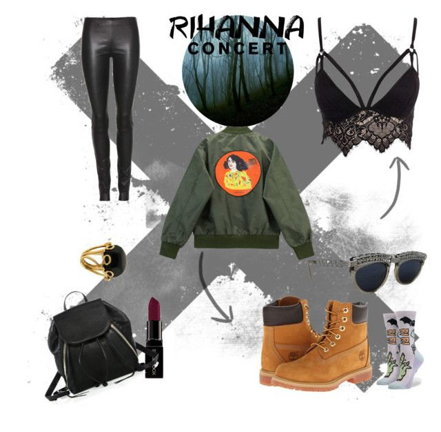 #rihanna by tinaradu on Polyvore featuring Club L, Chicnova Fashion, The Row, Timberland, Rebecca Minkoff, Valentin Magro, Jean-Paul Gaultier and Smashbox