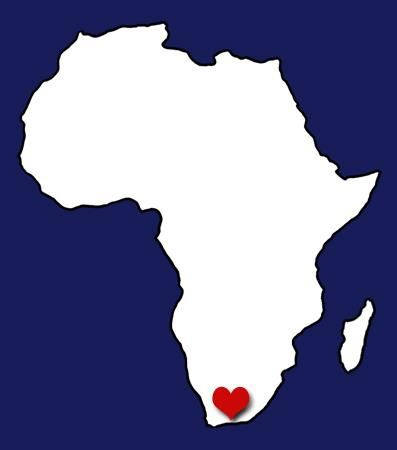 AFRICA....and the heart is in South-Africa.