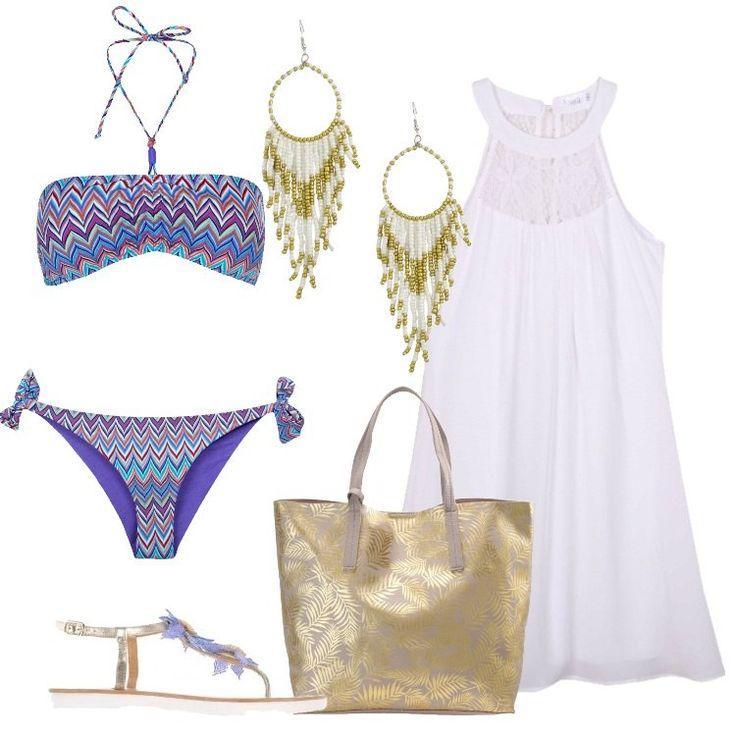 Outfit La shopping bag oro