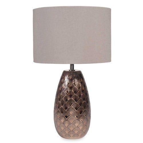 Lampe aus Keramik kupferfarben H 45 cm GRAZIELLA