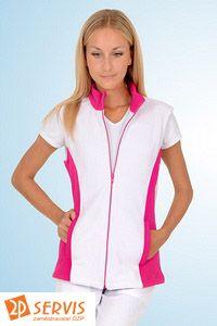 Zdravotnické oblečení dámská moderní fleece vesta