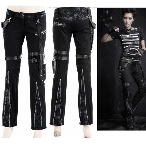 Black Studded Fashion Emo Gothic Punk Rock Pants Leggings Clothes SKU-11404055