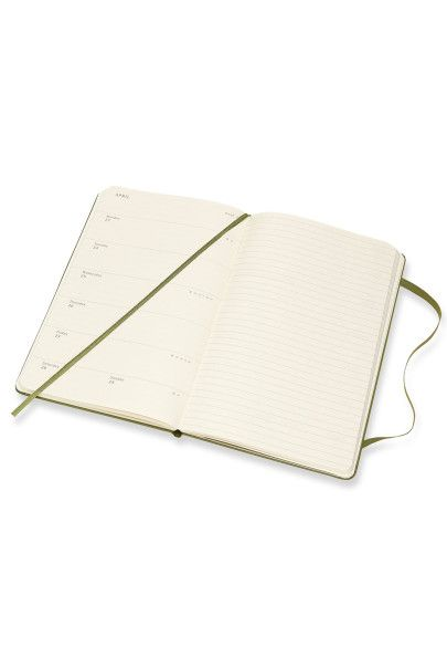 Moleskine - 2018 Hard Cover Diary - Weekly Notebook - Large (13x21cm) - Elm Green