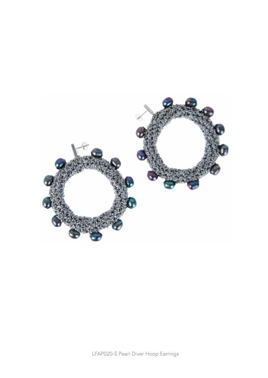 Lucy Folk presents APPETEASER - NH: Autumn/Winter 2014 / SH: Spring/Summer 2014 - PEARL DIVER HOOP EARRINGS