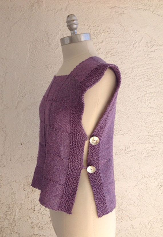 Loom Knit Vest Pattern : 168 best images about WEAVING_Using Woven Fabric (to make ...