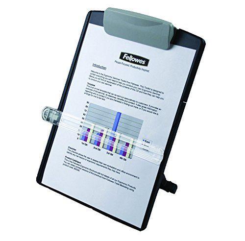Fellowes Desktop Copyholder Adjustable Landscape or Portrait View 254x98x358mm - Graphite Ref 9169701
