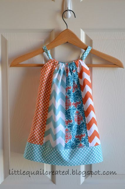 I actually used a real pillowcase and adapted these directions.  Super cute!  I will post a picture of Libby wearing it.