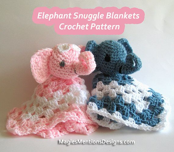 Free Crochet Elephant Baby Blanket Pattern : 415 best images about Baby Lovey Blankies on Pinterest