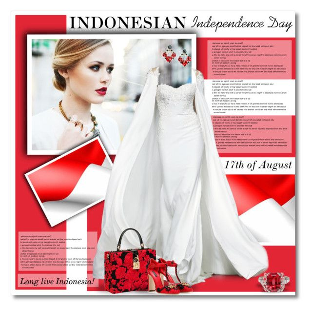 """""""Indonesian Independence Day 17th of August"""" by defivirdavp ❤ liked on Polyvore"""