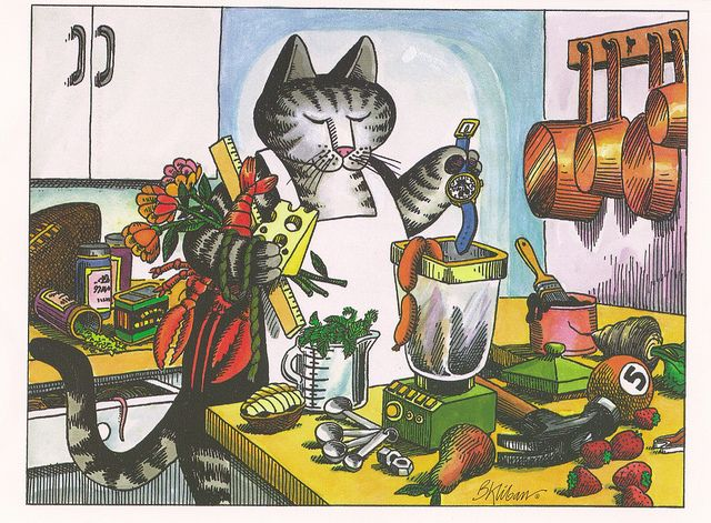 Kliban Cat by VeryHappyHomemaker-Angee at Postcrossing, via Flickr