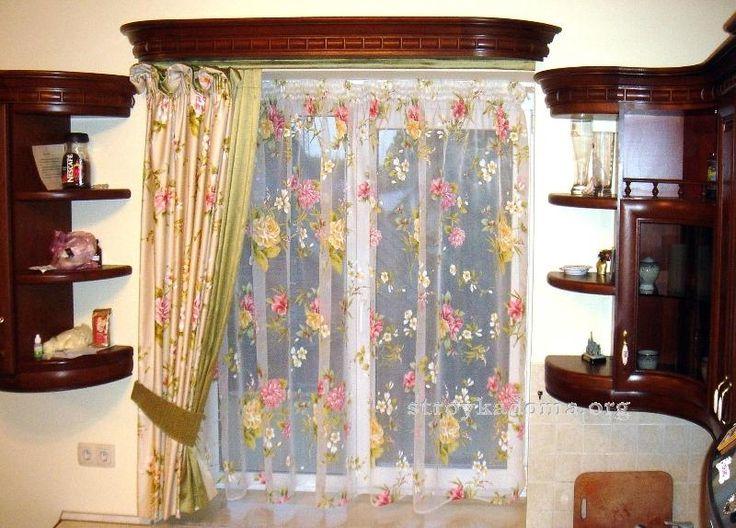 Красочные и модные шторы для кухни