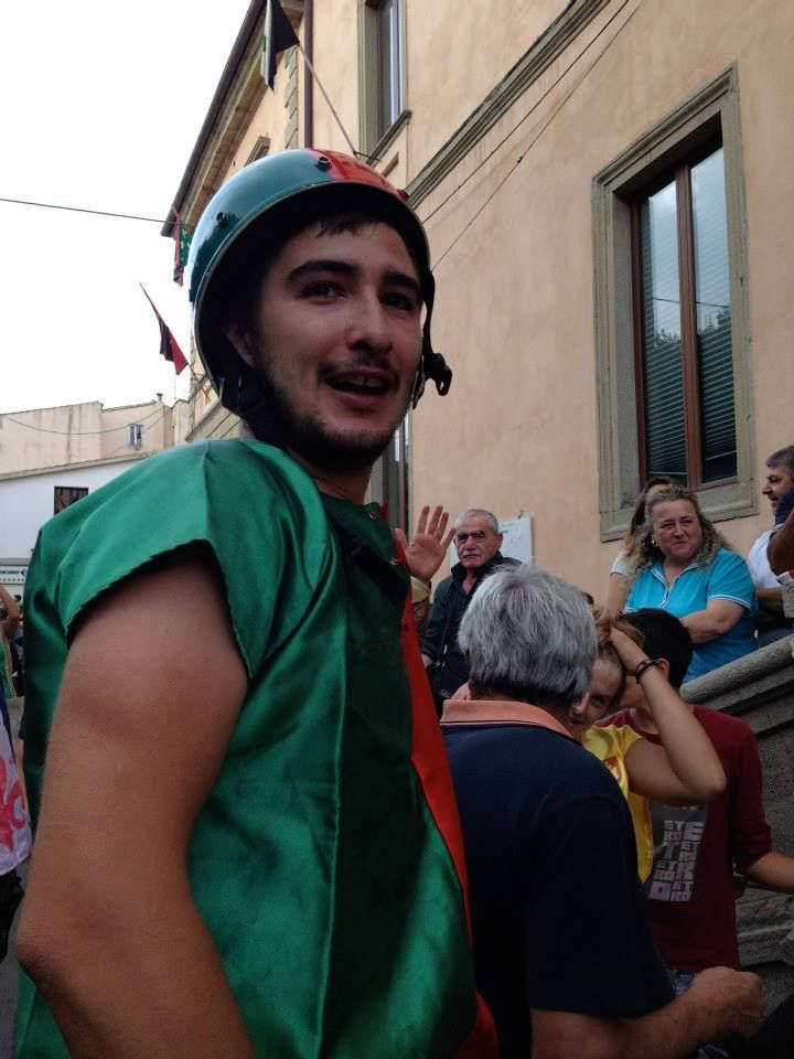Dunkey palios in #Maremma #Tuscany at Roccastrada old medieval village. On September