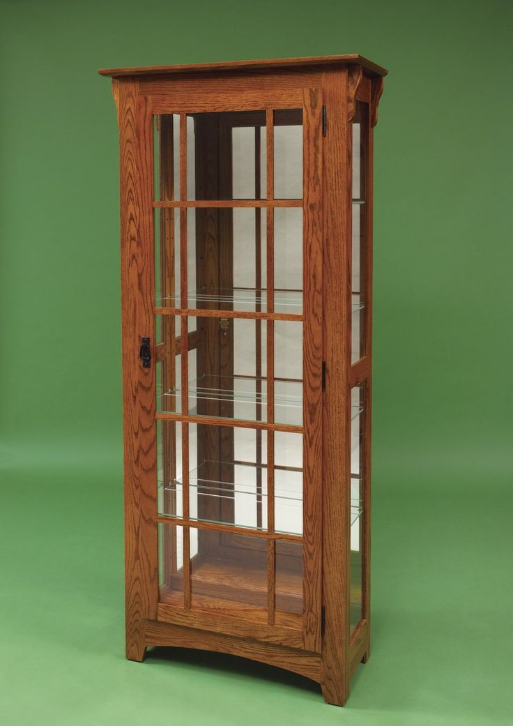 Hardwood Mission Curio Cabinet