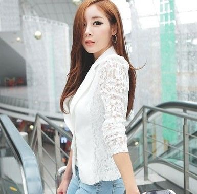 Find More Blazers Information about 2014 spring new small suit Korean ladies slim fit lace stitching small suit jacket,High Quality suit jacket sleeve,China jacket shirt Suppliers, Cheap suit jacket kids from Guangzhou vicky hair products co., LTD  on Aliexpress.com