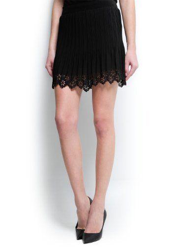 Mango Women's Laser-Cut Hem Miniskirt - Becky MANGO. $69.99