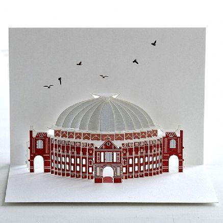 Pop-up Albert Hall card