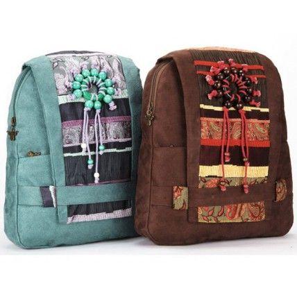 #51 TIBETAN™ Women's cotton backpack with Tibetan motif