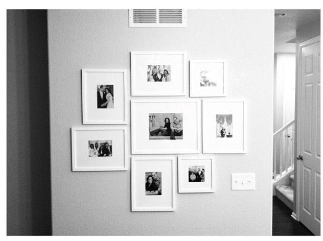 best 10 wall frame arrangements ideas on pinterest picture frame arrangements picture frame. Black Bedroom Furniture Sets. Home Design Ideas