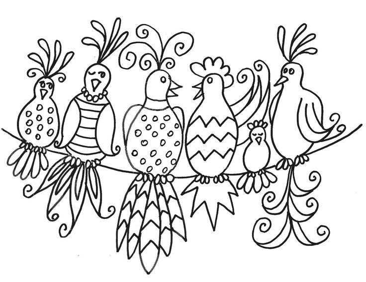 gossip birds pattern...free painting pattern for birds... These artistic birds would look colorful and cool on a rock!