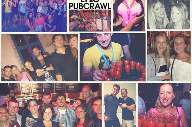 Budapest Private Epic Pub Crawl Stop at four completely different bars and end with free entry to a club where you can dance the night away. If you're with a stag group or a private tour, enjoy having a guide for your stay.See Budapest like a local. Visit hidden ruin bars, unique venues and cheap bars! See all that Budapest has to offer. During the tour, visit at least three of the most hidden and historical ruin bars, plus a massive club at the end.At every destination, you w...