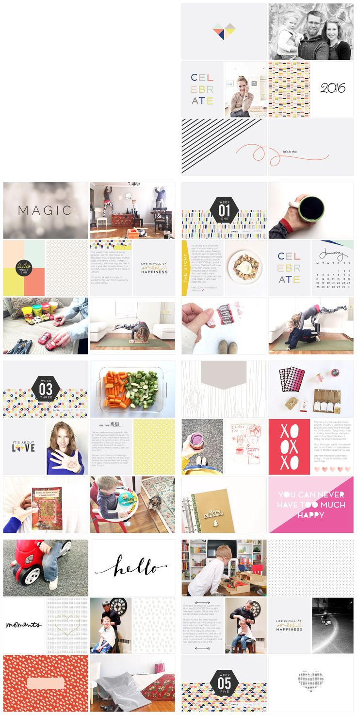 Project Life 2016 | Julie Gagen | January Project Life App Pages